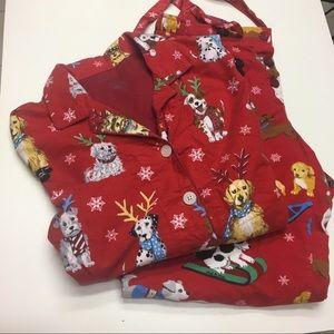 Nick & Nora Adorable Dog Christmas Pajamas L 🐶🎄